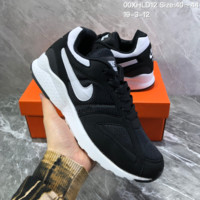 HCXX N862 Nike Air Pegasus 92 Uitra Coming Mesh breathable light recreational men's jogging shoes Black White