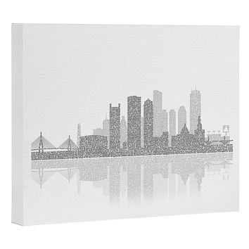 Restudio Designs Boston Skyline Reflection Art Canvas
