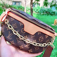 Hipgirls LV New fashion monogram print leather shoulder bag crossbody bag