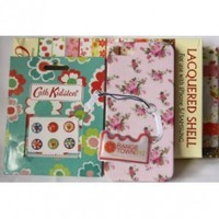 Value Pack - iPhone 5 Plastic Back Case Cover Boxset - Pink Flowers + 6 in 1 sheet flower home button stickers