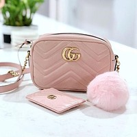 GUCCI GG Marmont Ruched Mini Shoulder Bag-1