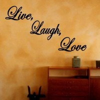 Live Laugh Love Decal Quote Lettering Home Vinyl Wall Art Sticker LARGE (Free glowindark switchplate decal)