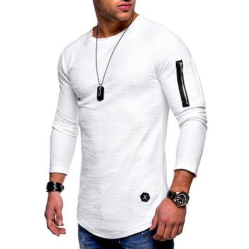 Men Long Sleeve Sweatshirt Zipper Streetwear Sportswear Tops