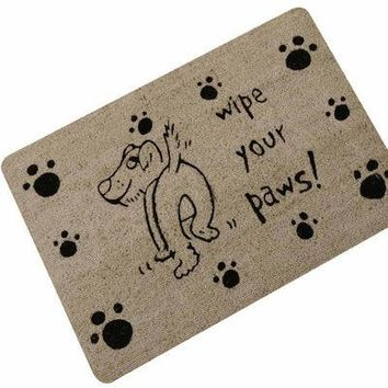 Autumn Fall welcome door mat doormat Cute Naughty Dog Cat Entrance  Home Decorative s Funny Welcome Floor Mats Front Porch Rugs Foot Pad TapeteGYR13 AT_76_7