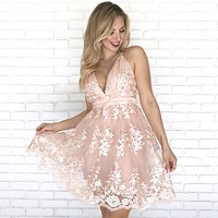 True Beauty Embroidered Floral Dress