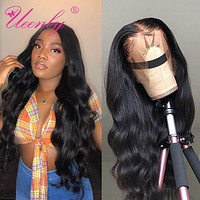 UEENLY 13x4/13x6 Lace Front Human Hair Wigs Pre Plucked Hairline Brazilian Body Wave 360 Lace Frontal Wig with Baby Hair Remy