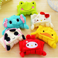 Cute Cartoon Hello Kitty Strong Absorb Coral Kitchen Accessory Hand Towel