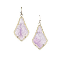 Kendra Scott Alex Purple Amethyst Earrings 14K Gold Plated