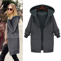 Plus Size Women's Fashion Winter Hats Thicken Jacket [9344409156]