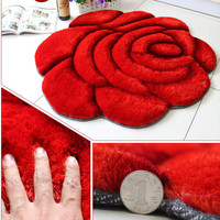 1Pcs Style Rose Modern 3D Carpet For Living Room and Area Rug Bathroom Bedroom Carpets Floor Mat Tapis De Sala