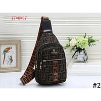 Fendi tide brand female models simple fashion wild shoulder bag chest bag Messenger bag #2