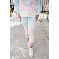 Naomi Tie Dye Lounge Pants, Blue