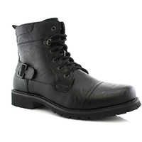 Polar Fox Lace-up Buckle Combat Boots Fabian MPX808006