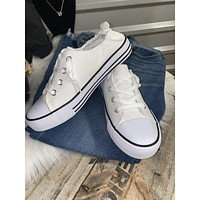 Miami White Ruched Sneakers (6-10)
