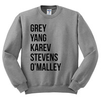 Greys Anatomy Oversized Sweater - Grey Yang Karev Stevens O'Malley - Thursdays We Watch Grey's A Beautiful Day To Save Lives