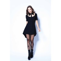 Dw127 Punk Hollow Out Doll Collar Tee Dress 138309