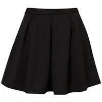 Black Ribbed Pleated Skirt - Sale  - Sale & Offers