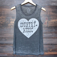 Chaser country music tee in vintage black