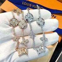 LV Louis Vuitton Women Shiny Diamond Bracelet Accessories Jewelry