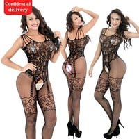 Free shipping Sexy lingerie Lace cut out women clothes one-piece garment Special purpose clothing W173
