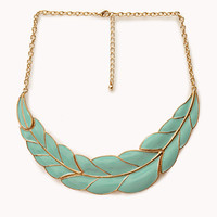 FOREVER 21 Remixed Wreath Necklace Mint/Gold One