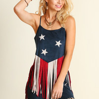 Americana Top with Fringe