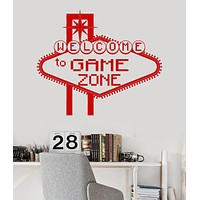 Vinyl Wall Decal Game Zone Teen Room Video Game Play Stickers Unique Gift (ig3701)