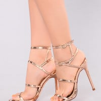 Caged In Heel - Rose Gold