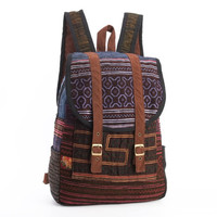 Tribal Backpack Embroidery Traditional Boho Hippie Gypsy Stylish Purse