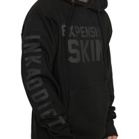 """Men's """"Expensive Skin"""" Hoodie by InkAddict (Black Collection)"""