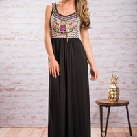 Night And Day Maxi Dress, Black