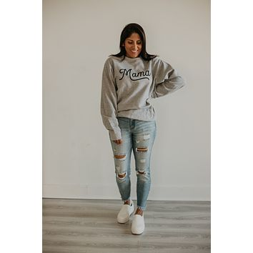 Mama Graphic Sweatshirt - Heather Grey