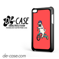 Pug Bicycle For Ipod 4 Case Phone Case Gift Present
