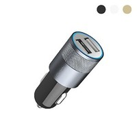 Moon Monkey Portable 2.1A(max) Output Dual USB Car Charger Quick Charge for Iphone, Ipad, Tablets, Android Smart Phone (MM358) (Black)