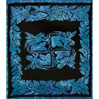 Fairy Square Blue Single Tapestry