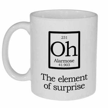 Element of Surprise Mug-Oh- Fake Periodic Table Chemistry Elements