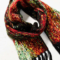 Digital Fringed Scarf - Urban Outfitters