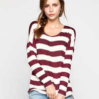 Volcom Hazy Womens Top Cabernet  In Sizes
