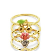Set Of 4 Rings by Juicy Couture