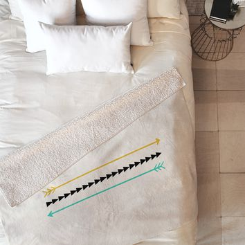 Allyson Johnson Minimal Arrows Fleece Throw Blanket