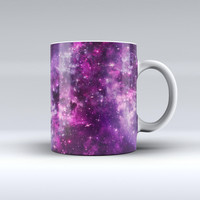 The Vibrant Purple Deep Space ink-Fuzed Ceramic Coffee Mug
