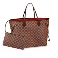 Womens Classic Canvas Neverfull Top-Handle Tote Bag Large Capacity Haute Couture Shoulder Bag
