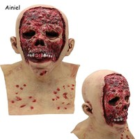 Cool Scary Mask Zombie Clown Latex Halloween Cosplay Costume Demon Terror Terrifier Mask Props Carnival Party Cosplay for Men WomenAT_93_12