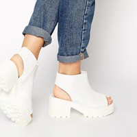 Truffle Collection Chunky Sling Shoe Boots