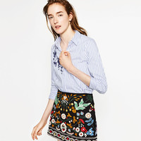 EMBROIDERED MINI SKIRT - SKIRTS-WOMAN-COLLECTION AW16 | ZARA United States