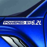 Powered By 6.2L Sticker Vinyl Decal Truck Fender Decal fit Ford Raptor F150 F250