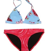 Floral Galaxy Triangle Neoprene Bikini Set