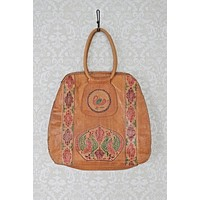Vintage Whiskey Tooled Leather Tote