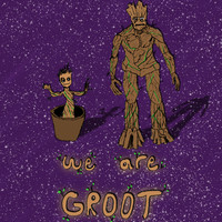 We Are Groot #3 Art Print by Anthony Londer