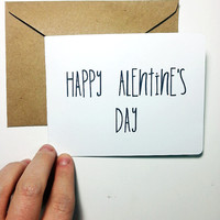 Don't worry I'm saving the V for later, funny Valentine's day card for your boyfriend or significant other